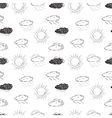 Weather symbols seamless pattern Sketch vector image