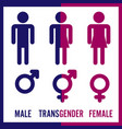transgender male set of symbols isolated on vector image