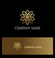gold flower beauty luxury geometry logo vector image