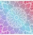 beautiful colorful mandala floral background vector image