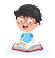 of kid writing vector image