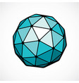 3d digital spherical object made using triangular vector image