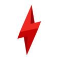 3d thunder logo lighting bolt logo flat style vector image