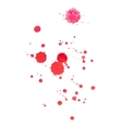 Abstract watercolor aquarelle hand drawn red blood vector image vector image