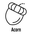 acorn icon outline style vector image vector image