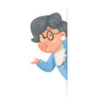 advice look out corner grandmother talking wise vector image vector image