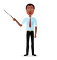 african attractive young man presenting vector image