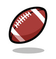 american football rugby sport ball logo line 3d vector image vector image