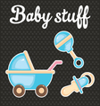 Baby scrapbook icon collection vector image vector image