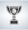 basketball trophy cup award icon in flat vector image vector image