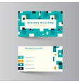 Business card layout vector image vector image