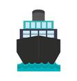 cargo ship icon imag vector image vector image