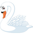 cartoon cute swan isolated on white background