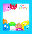 Cat party vector image vector image