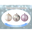 Christmas decorations Collection of white silver vector image vector image