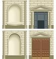 Classic exterior facade elements vector image