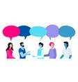 colorful people conversation vector image vector image