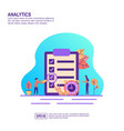 concept analytics modern conceptual for banner vector image vector image