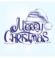 congratulation MERRY CHRISTMAS hand lettering vector image