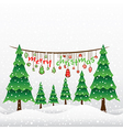 creative merry christmas greeting card design vector image