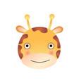 cute giraffe face baby animal head vector image