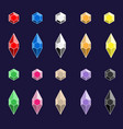 diamonds color set vector image vector image