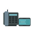 digital telephone and password display vector image vector image