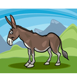 donkey farm animal cartoon vector image vector image
