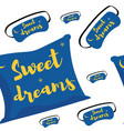 doodle seamless pattern of images about sweet vector image