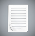 Empty paper three sheets vector image