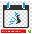 Festive Rooster Calendar Day Eps Icon vector image vector image