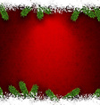 Fir and snow christmas frame vector image vector image