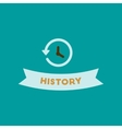 flat icon on background history lesson vector image vector image