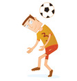 football players are ready to head coming vector image vector image