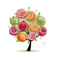 Frame made from fruits sketch for your design vector image