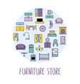 furniture and home accessories banner with vector image