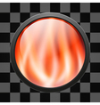 Glossy fire button for web applications vector image vector image