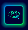 glowing neon line invisible or hide icon isolated vector image vector image