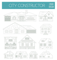 Great city map creator Outline version House vector image