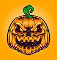 halloween pumpkin creepy smile vector image vector image