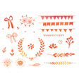 Hand drawn doodle design elements vector image vector image