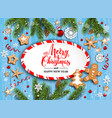 holiday christmas striped blank vector image vector image
