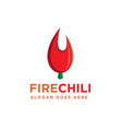 hot fire chili logo on white background vector image vector image