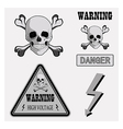 icons warning v vector image