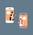 indian couple chat bubble mobile application vector image vector image