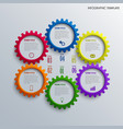 info graphic with colorful design cogwheel vector image vector image