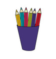 isolated pencils design vector image vector image