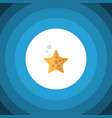isolated starfish flat icon sea star vector image vector image