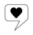 love heart speech bubble vector image