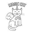 magic unicorn cat fashion design vector image vector image
